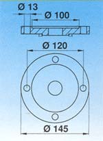 FLANGE FOR COMBINATION GEAR REDUCTION